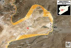 Homs Syria Map by Military Situation In Eastern Homs On Mar 6