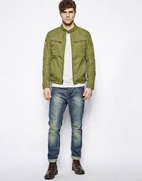 denim motorcycle jacket ralph lauren denim supply motorcycle jacket in green for men lyst