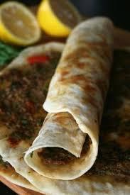 apprendre a cuisiner arabe lahmacun pizza sıvamış rolled up galette