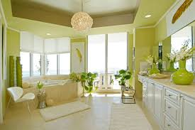 bathroom lemon yellow with wall color also marble flooring