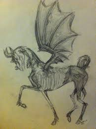 horse skeleton halloween undead horse drawing by mojotwister on deviantart