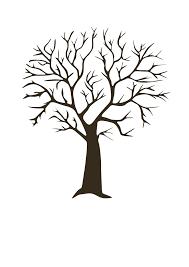 Stencil Albero by Arbol Huellas Para Personalizar Boda Pinterest Tree Drawings