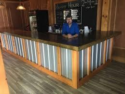 Metal Reception Desk The Hustler 25 U0027 Rustic Corrugated V 5 Metal Bar Sales Counter