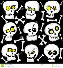 Halloween Skeleton Pattern by Halloween Cute Skull Faces Royalty Free Stock Photo Image 33524415
