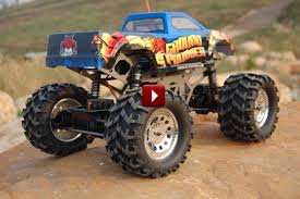 rc monster truck racing redcat racing ground pounder 1 10 scale rc monster truck