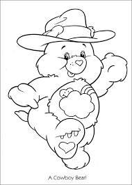 care bears coloring pages cowboy bear coloringstar