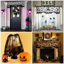 halloween lace curtains aerwo black spider halloween lace lamp shade cover for halloween