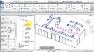 hvac floor plan revit hvac project 05 return air ducts system color overrides