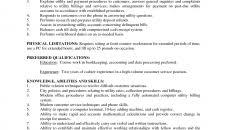 description of job duties for cashier cashier sle job description senior responsibilities templates