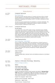 computer technician resume samples visualcv resume samples database