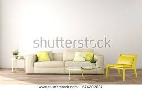 Interior Design Of Living Room by Empty Living Room White Wall Background Stock Illustration