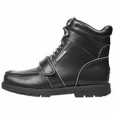 s rockport xcs boots rockport xcs marangue k52592 black leather walk water