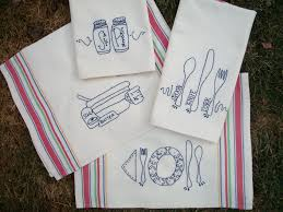 new kitchen tea towel embroidery pattern towel embroidery