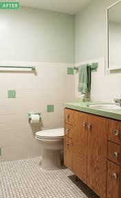 kate u0027s 1960s green bathroom remodel u0027lite u0027 before and after retro