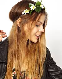 flower hairband lyst asos limited edition garden flower hairband in green