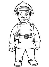 fireman sam friend officer steele coloring coloring sky