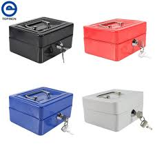 caisse de bureau maison organizador mini portable en acier serrure caisse