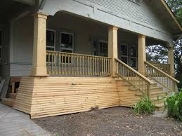 exterior solid wood column design for porch with wooden