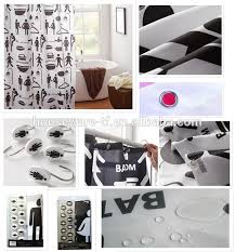 Curtains Hooks Types Pebble Stone Type Polyester Shower Curtain With Resin Hooks Buy