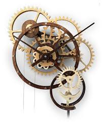Free Wooden Gear Clock Plans Download by Kinetic Art Woodworking Plans By Derek Hugger