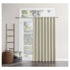 Wide Curtains For Patio Doors by Kenneth Extra Wide Blackout Curtain Panel Pearl White 84