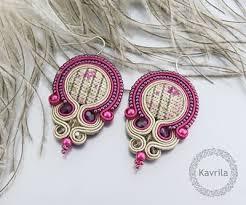 soutache earrings 360 best soutache earrings images on soutache earrings