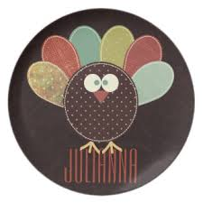 thanksgiving plates zazzle