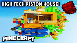 high tech piston house entire house in one room redstone