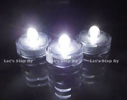 12 submersible waterproof tea candle wedding floral led lights