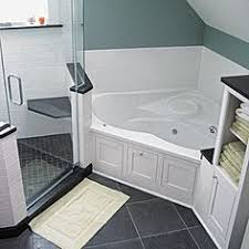 corner tub bathroom designs master bath with granite countertops stand up shower with a shelf