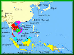 asia political map south east asia political map major tourist attractions