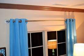 Curtain Crown Molding Lovely Hanging Curtain Rods On Molding 2018 Curtain Ideas