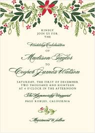 christmas wedding invitations christmas wedding invitations match your color style free