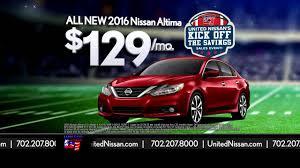 nissan altima 2016 lease united nissan kick off the savings youtube