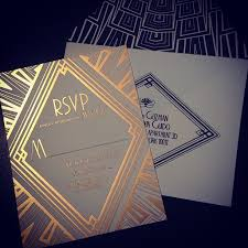 gatsby wedding invitations the gatsby effect a look at deco wedding invitations paperlust
