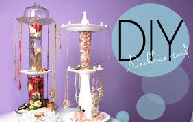 necklace bracelet display images Diy necklace and jewelry display spinning stand how to make jpg