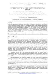 development of an acid resistant concrete a review pdf download