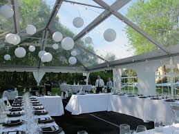 clear wedding tent clear top in early may blue peak tents inc