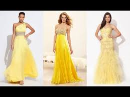 top 100 most beautiful yellow prom dresses for women youtube