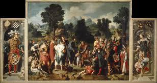 Jesus Healed The Blind Man Van Leyden The Healing Of The Blind Of Jericho