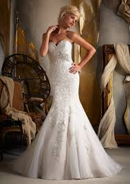 Fitted Wedding Dresses Morilee Bridal Embroidered Appliques On Net Satin Empire Wedding