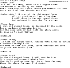 The Old Rugged Cross Music The Old Rugged Cross By Merle Haggard Lyrics