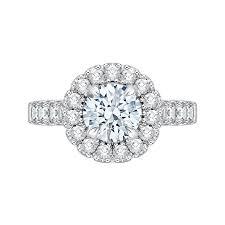 semi mount engagement rings 18k white gold 1 ct carizza semi mount engagement ring to