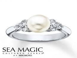 best pearl rings images 14k rose gold engagement ring pearl engagement ring pearl and jpg