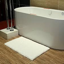 Soft Bathroom Rugs K Mat 20x32 Inch White Bath Mat Soft Shaggy Bathroom Rugs Non Slip