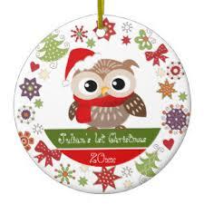 owl christmas owl ornaments keepsake ornaments zazzle