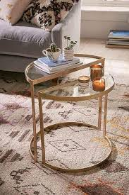 gold nesting coffee table gold nesting side tables