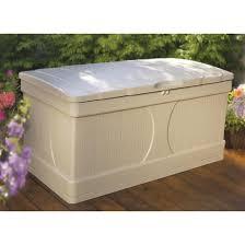 decking suncast deck box 122 gallon suncast rattan deck box