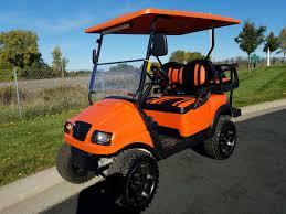 orange club car precedent phantom elite 48v electric golf cart