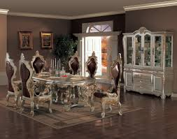 Luxury Dining Room Set Furniture Elegant Silver Iron Dining Room Hutch For Luxury Dining